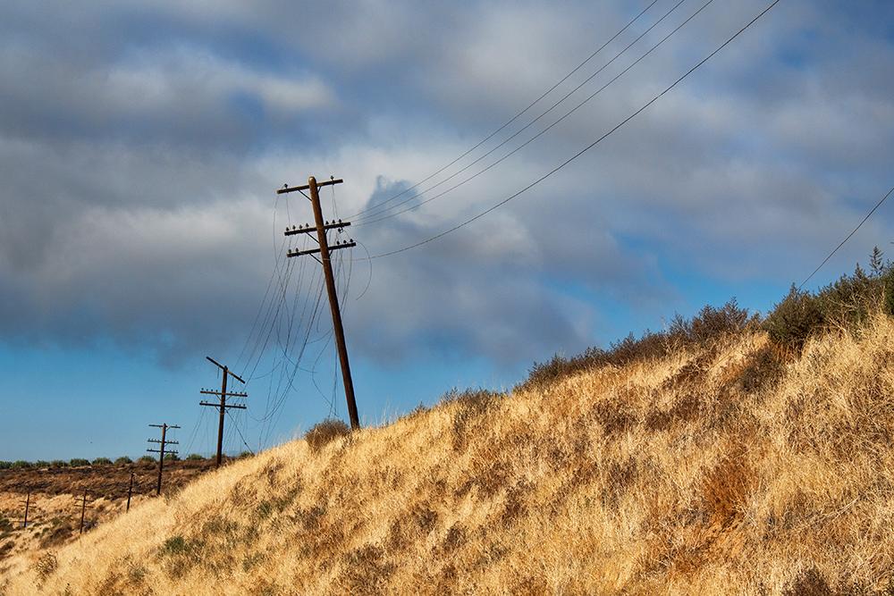 "Railroad Poles & Wires - 24""x36"""
