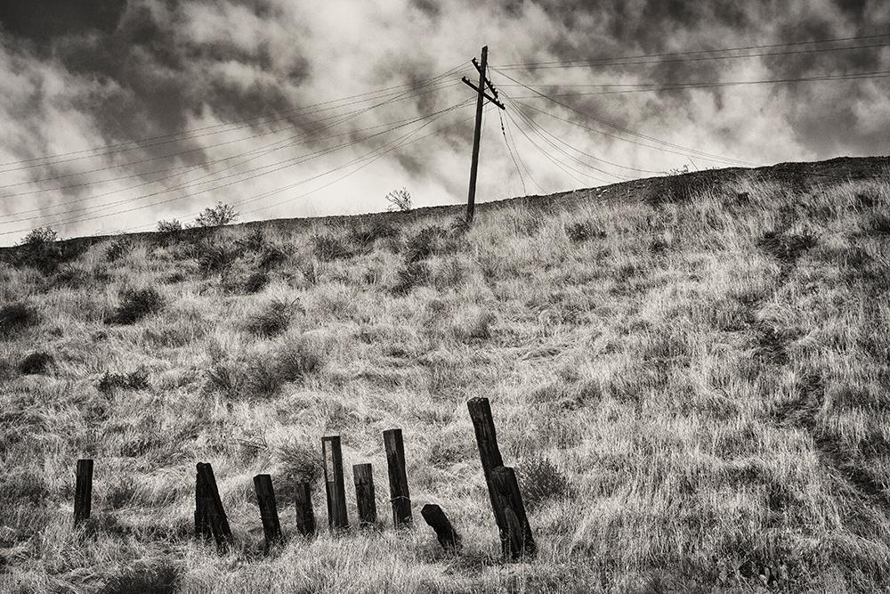"""Railroad Pole & Wires - 20""""x30"""""""