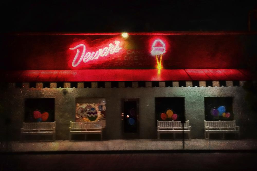 """Dewar's at Night - 24""""x36"""""""