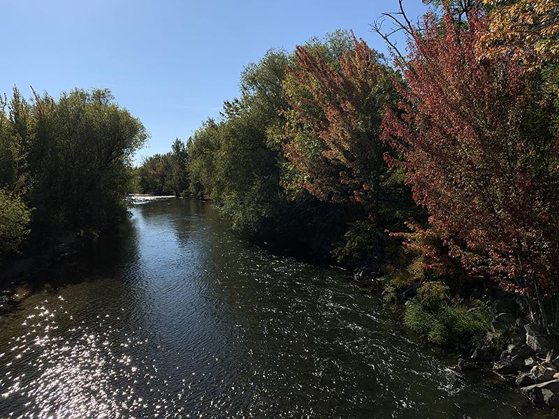Walking in Eagle, Idaho