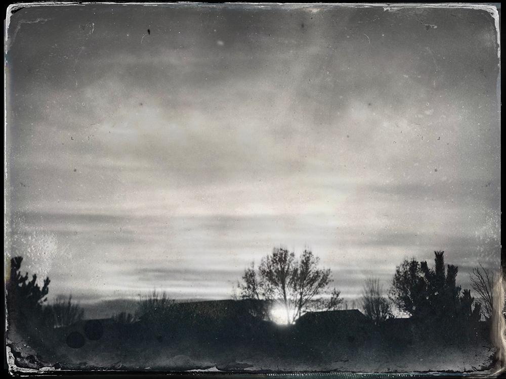 Sunset - Black & White Tin Type Photos